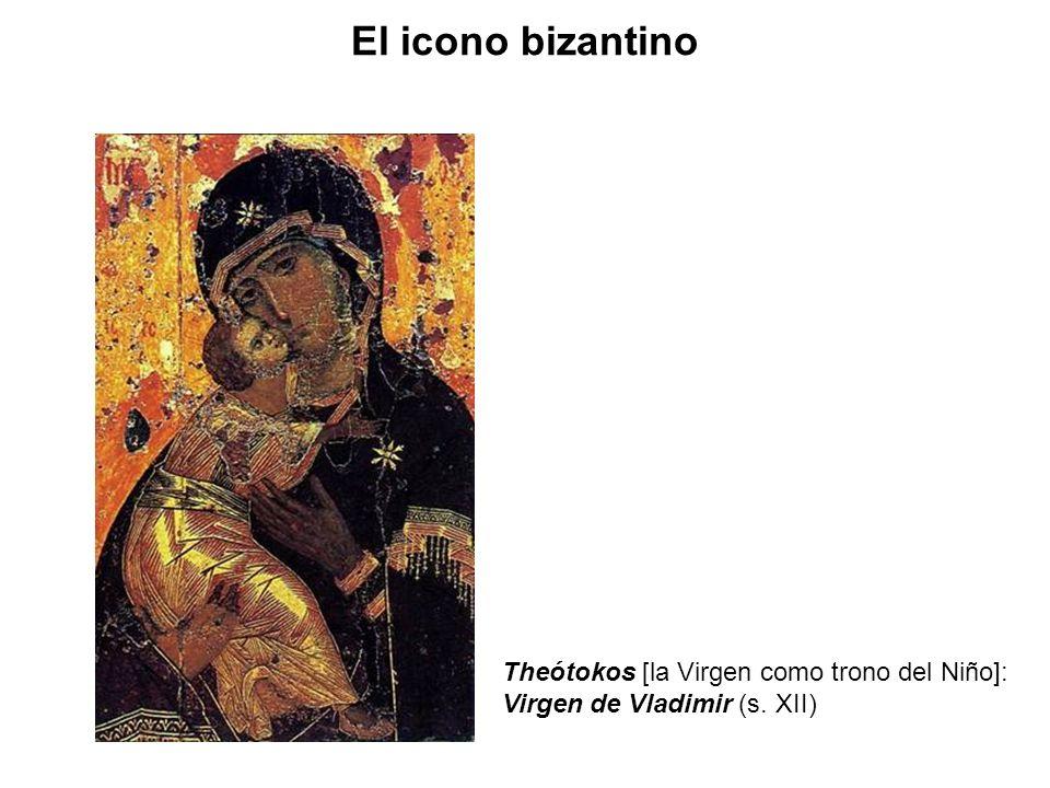 El icono bizantino Theótokos [la Virgen como trono del Niño]: